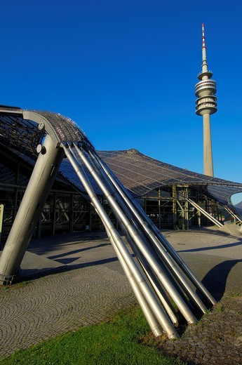 Munich, Olympiapark, Olympia Park, Olympic Park, Bavaria, Germany, Europe. : Stock Photo