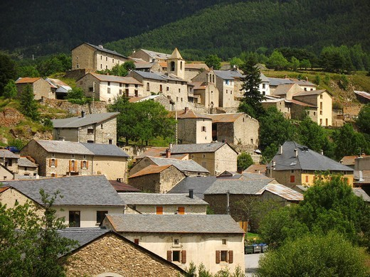Eyne, Pyrenees-Orientales, Languedoc-Roussillon, France : Stock Photo