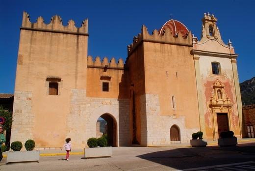 Santa Maria de la Valldigna monastery, Simat de la Valldigna, Valencia, Spain, Europe : Stock Photo