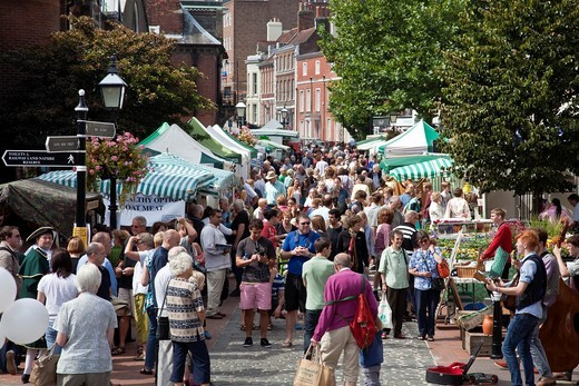 Local Farmers Market, held monthly Lewes, Sussex, England : Stock Photo