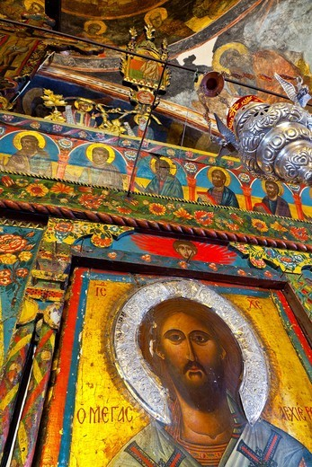 Stock Photo: 1566-932878 Dormition of the Virgin Church  Asklipeiou Village, Rhodes Island, The Dodecanese Archipelago, Greece, Europe