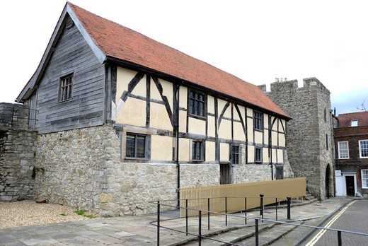 Stock Photo: 1566-933163 Tudor Merchants' Hall, Southampton, Hampshire, England