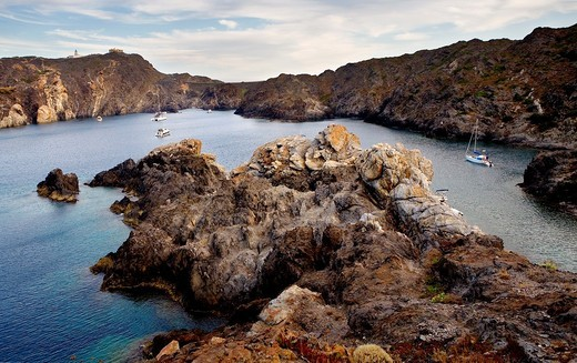 Culip cove  Cap de Creus Natural Park  Landscape that inspired some of Dalí´s paintings Costa Brava  Girona province  Catalonia  Spain : Stock Photo