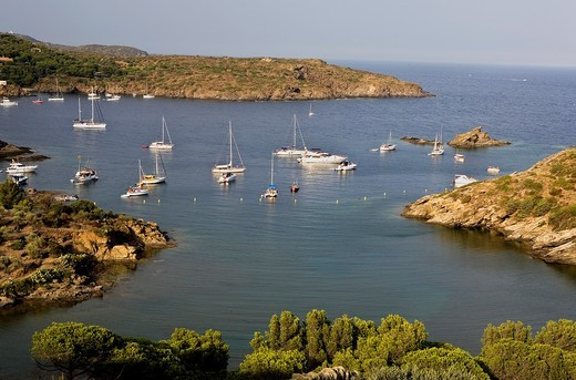 Guillola cove  Cap de Creus Natural Park Costa Brava  Girona province  Catalonia  Spain : Stock Photo