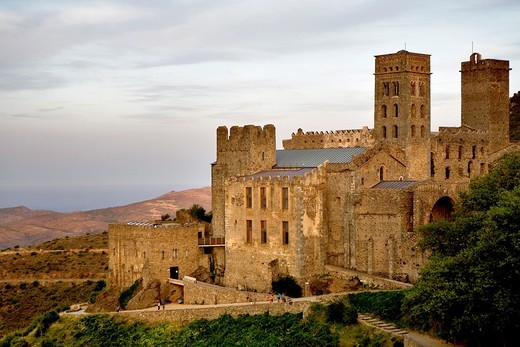 Stock Photo: 1566-933241 Sant Pere de Rodes benedictine monastery Costa Brava  Girona province  Catalonia  Spain