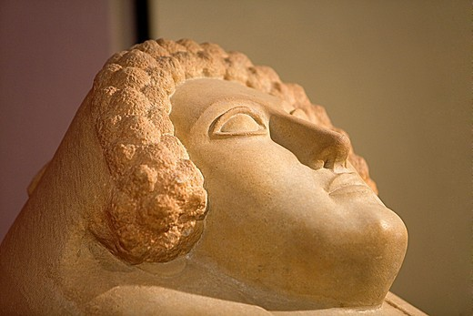 Stock Photo: 1566-933870 Museum of Cadiz, detail of Phoenician sarcophagi 400 a c, Cádiz, Andalusia, Spain