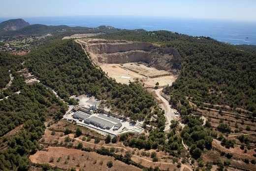 Stock Photo: 1566-933902 Quarry near Can Fornet, Ibiza, Balearic Islands, Spain