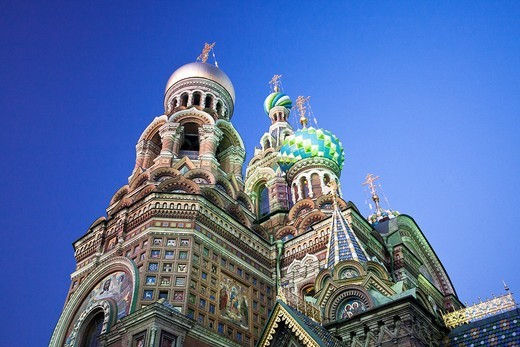 Rusia , San Petersburg City , Church of the Savior on Spilled Blood. : Stock Photo