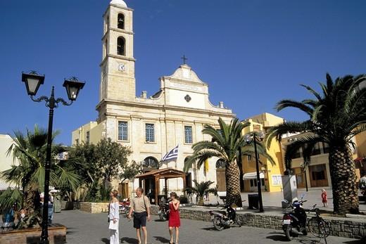 Greece, Crete, Hania Chania orthodox church : Stock Photo
