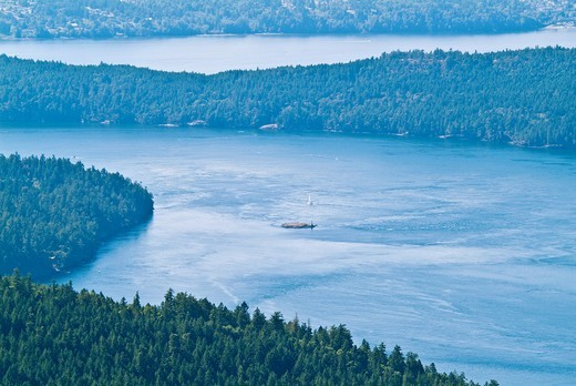 view from Mount Maxwell, Saltspring Island, British Columbia, Canada : Stock Photo