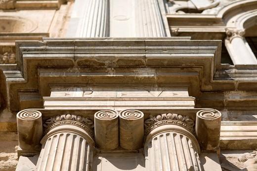 Ionic capitals, Palace of Charles V, Granada, Spain : Stock Photo