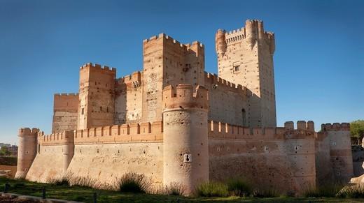 Castle of Mota. Medina del Campo. Valladolid. Castilla y León. Spain. Europe : Stock Photo