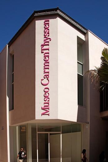Stock Photo: 1566-938438 Art Museum Collection Carmen Thyssen Bornemisza, Malaga Costa del Sol, Andalusia, Spain.