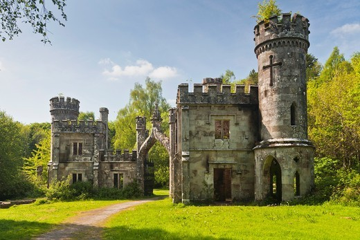 Two Towers building in Lismore, County Waterford, Ireland, Europe : Stock Photo
