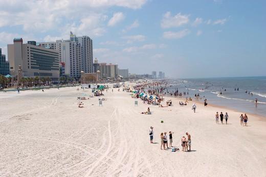 Stock Photo: 1566-938998 beach on Atlantic Ocean, Daytona Beach, Florida, USA