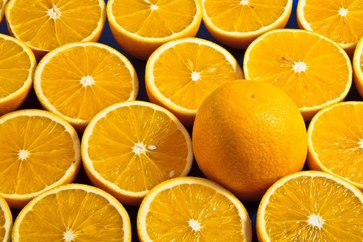 Close up of lots of oranges : Stock Photo