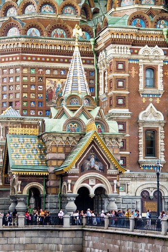 Stock Photo: 1566-940574 Rusia , San Petersburg City, Church of the Savior on Spilled Blood.