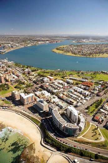 Stock Photo: 1566-940719 Aerial view of Newcastle Beach, Newcastle, New South Wales, Australia