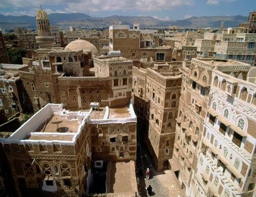 Stock Photo: 1566-941018 Yemen, Sanaa, skyline, general panoramic view
