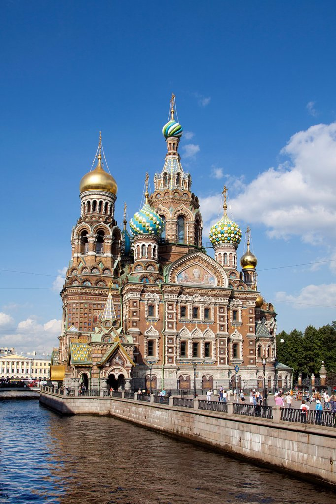 Stock Photo: 1566-941109 Rusia , San Petersburg City, Church of the Savior on Spilled Blood.