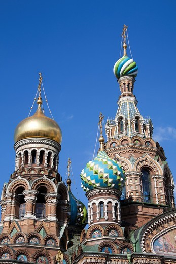 Rusia , San Petersburg City, Church of the Savior on Spilled Blood. : Stock Photo