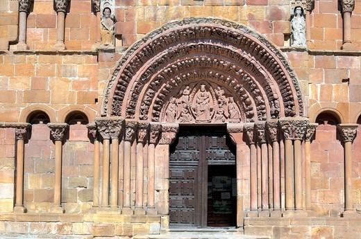 Romanesque church of Santo Domingo, Soria, Castile and Leon, Spain : Stock Photo