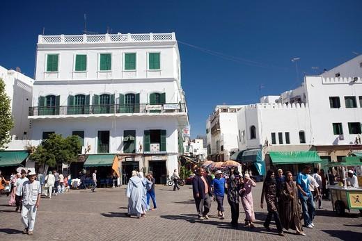 Colonial architecture in the Spanish quarter, Tetouan, Morocco : Stock Photo
