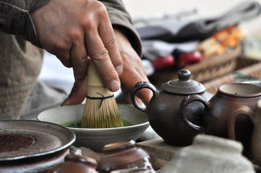 Seoul (South Korea): traditional tea ceremony in Insadong : Stock Photo