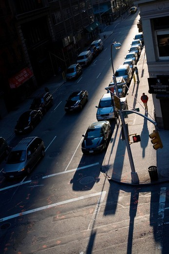 Early morning light on 27th street, New York City, USA : Stock Photo