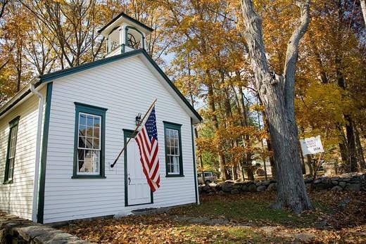 Stock Photo: 1566-943423 Hurlbutt Street School, 1834, CT, USA,