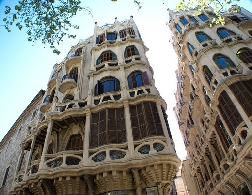 Stock Photo: 1566-944909 Modernism buildings, Palma, Spain