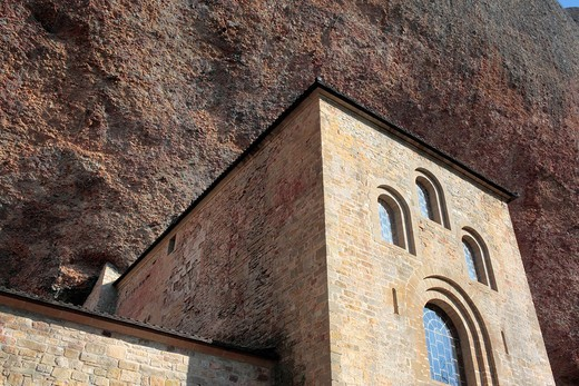 Medieval monastery San Juan de la Pena, Province Huesca, Aragon, Spain : Stock Photo