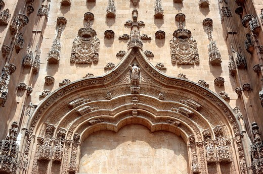 New Cathedral Catedral Nueva, Salamanca, Castile and Leon, Spain : Stock Photo