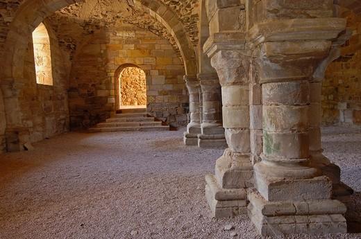Stock Photo: 1566-945961 Ruins of Santa Maria de Moreruela Cistercian monastery (12th century), Granja de Moreruela, Zamora province, Castilla-Leon, Spain