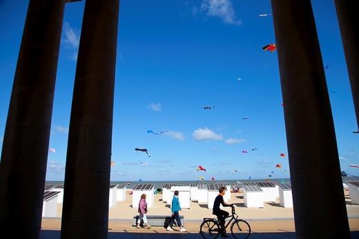 International Kite Festival in Ostend, Belgium, Europe : Stock Photo