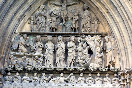 Church of Saint Sepulchre 14th century, Estella-Lizarra, Navarra, Spain : Stock Photo