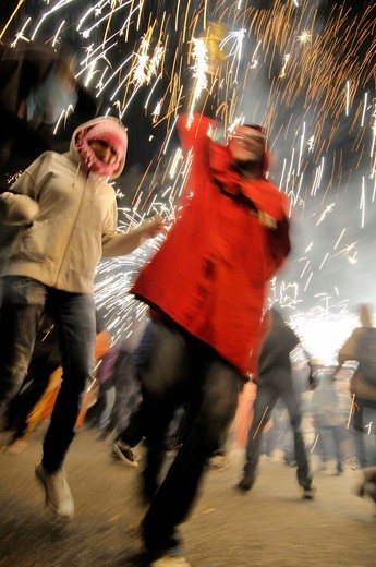 ´Correfocs´, La Merce feast, Barcelona, Catalonia, Spain : Stock Photo