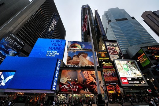 Times Square  Manhattan, New York. : Stock Photo