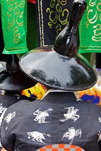 A costumed participant in the Jidai Matsuri : Stock Photo
