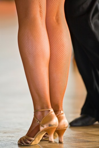 Stock Photo: 1566-948658 Close up of a female dancer´s legs at a dancing competition, Germany, Europe