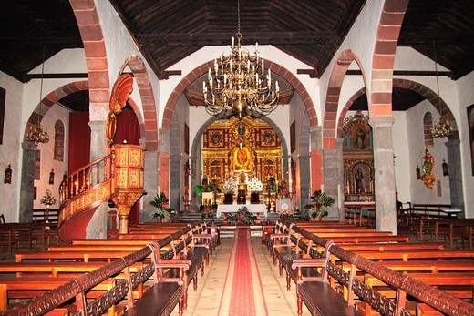 Church interior, Los Llanos de Aridane, La Palma, Canary Islands, Spain : Stock Photo