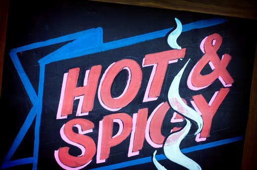 Stock Photo: 1566-949693 Hot and spicy sign