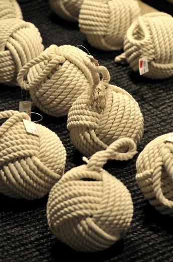 Stock Photo: 1566-949745 Rope knots for decoration. Vinçon store, Barcelona, Catalonia, Spain.