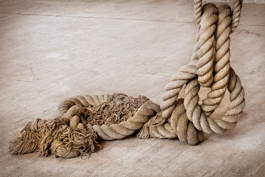 Old Rope : Stock Photo