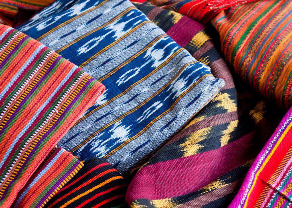 Guatemala, Mayan fabrics : Stock Photo