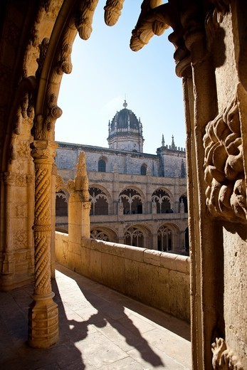 Stock Photo: 1566-951507 Mosteiro dos Jeronimos, Hieronymites Monastery, Late Gothic period, Belem, Lisbon
