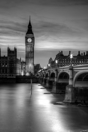 The Houses of Parliament Palace of Westminster London, England : Stock Photo