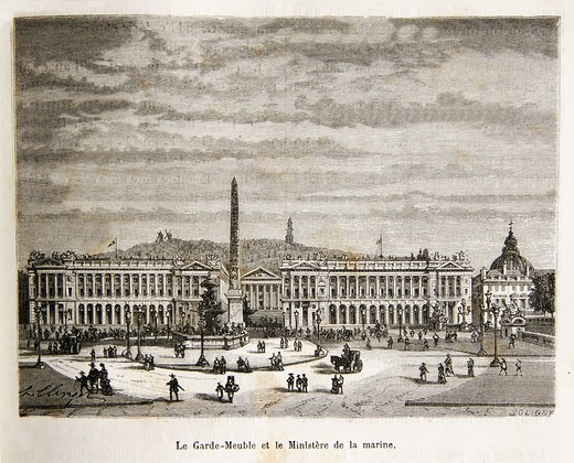 Stock Photo: 1566-952423 Hôtel du Garde-Meuble and the naval ministry (18th century), Paris, France