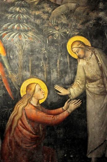Stock Photo: 1566-952853 Firenze (Italy): Catholic fresco in the Officina Profumo-Farmaceutica di Santa Maria Novella's building
