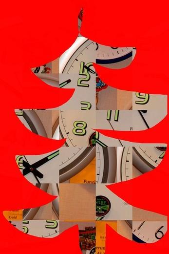 christmas-illustration, christmas-tree : Stock Photo